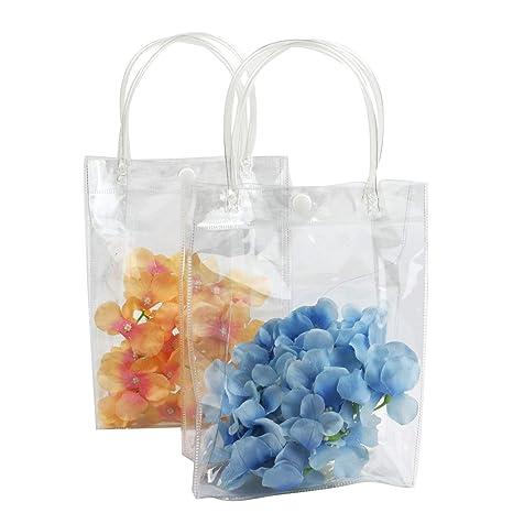Amazon.com: Monrocco - 10 bolsas de plástico transparente de ...