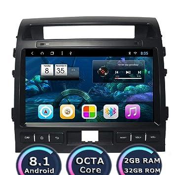 TOPNAVI Indash Android 8.1 Octa Core de 10,1 pulgadas Radio de Coche para Toyota