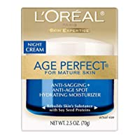 L'Oreal Paris Skin Care Age Perfect Night Cream, Anti-Aging Face Moisturizer With...