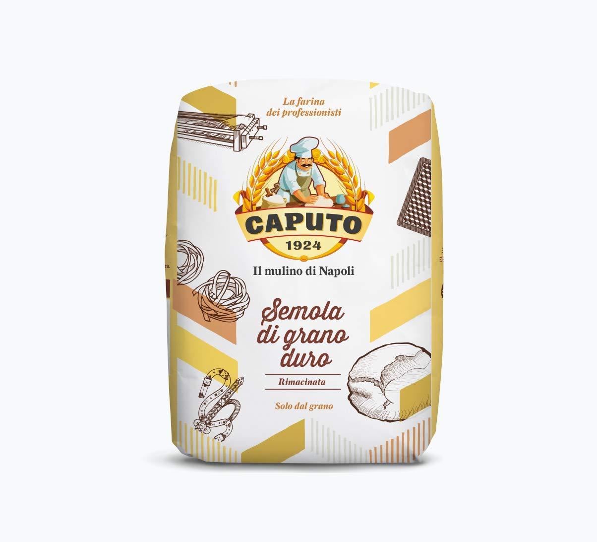 Antimo Caputo Semolina Flour 2.2 LB (Pack of 2) Bulk Italian Durum Semola Flour - All Natural Dough for Fresh Pasta