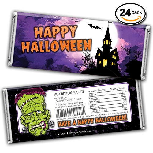 Free Halloween Shipping (Monsters Halloween Candy Bar Wrappers - FREE SHIPPING! - Perfect For Hersheys Candy Bars - Halloween Candy Bar Wrappers - Halloween Candy Wrapper Trick or Treat Candy Wrapper Halloween Hershey)