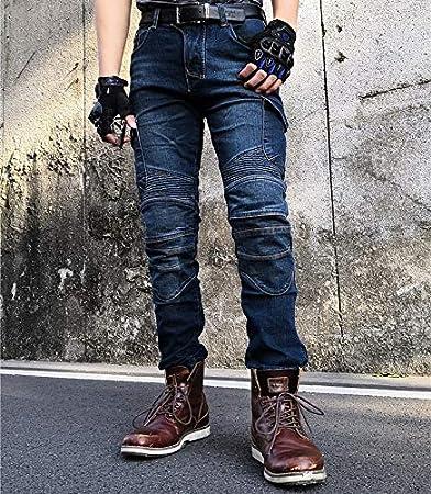 Waist 36.5 Hombre Motocicleta Pantalones Moto Jeans Con Motorcycle Biker Pants Azul XL-