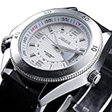 JIEDENG Chronograph Fashion Men Automatic Mechanical Wrist Watch Analog Display With Date