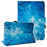 Galaxy Tab A 8.0 Folio Case-UUcovers Slim Fit Premium Leather Cover Money/Card Slots for Samsung Tab A 8.0-Inch Tablet SM-T350 (Night)