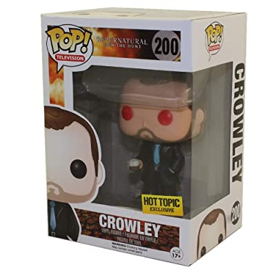 Funko Supernatural POP! Television Crowley Exclusive Vinyl Figure #200 [Red Eyes]: Toys & Games