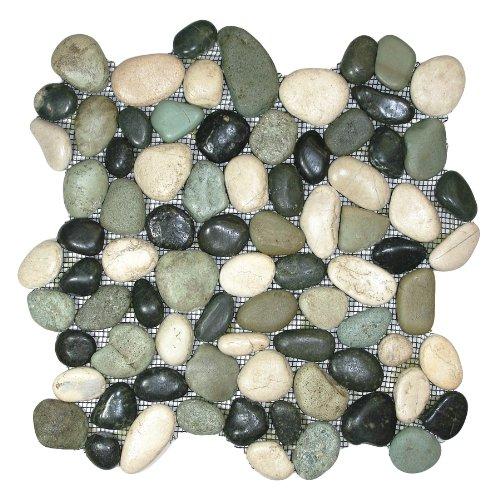 Glazed Bali Turtle Pebble Tile Sample