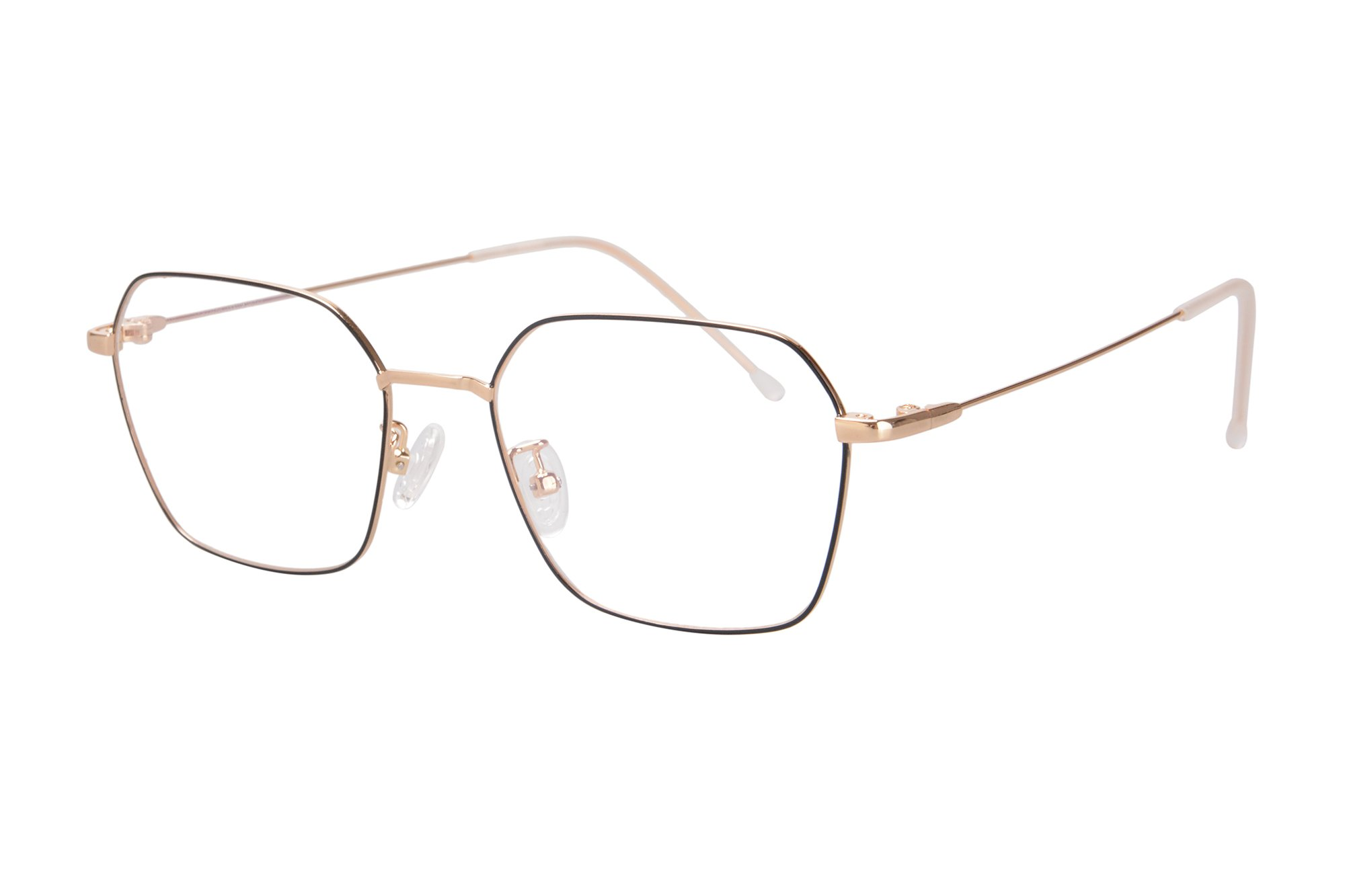 SHINU Lightweight Metal Frame Progressive Multifocus Blue Light Blocking Reading Glasses-SH064(gold and black, anti-blue up 0 down 2.50)