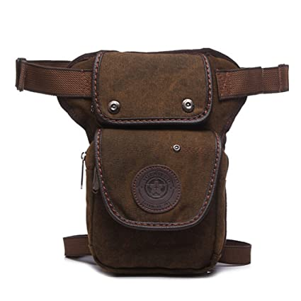 NAOKI LOVE Vintage-style Multifunction Outdoor Sports Tactical Durable  Canvas Coffee Waist Leg Bag ee62648e5a514
