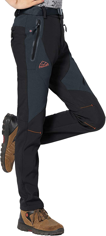 Rdruko Women's Waterproof Windproof Fleece Lined Warm Hiking Ski Snow Insulated Pants: Clothing