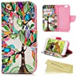 """iPhone 6S Case,iPhone 6 Case (4.7"""") - Mavis's Diary 3D Handmade Bling Wallet Flip Folio Cover PU Leather Colorful Tree Pattern with Shiny Crystal Sparkly Diamonds Gems & Card Slots"""