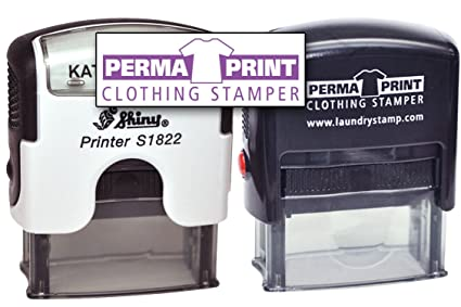 PermaPRINT Dual Clothing Stamper 1 Black Ink Stamp White Includes
