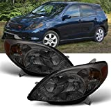 For Toyota Matrix JDM OE Replacement Headlights Driver/Passenger Smoked Amber Head Lamps Pair