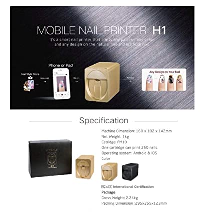 Impresora de uñas O2 móvil M1 3D profesional digital para ...
