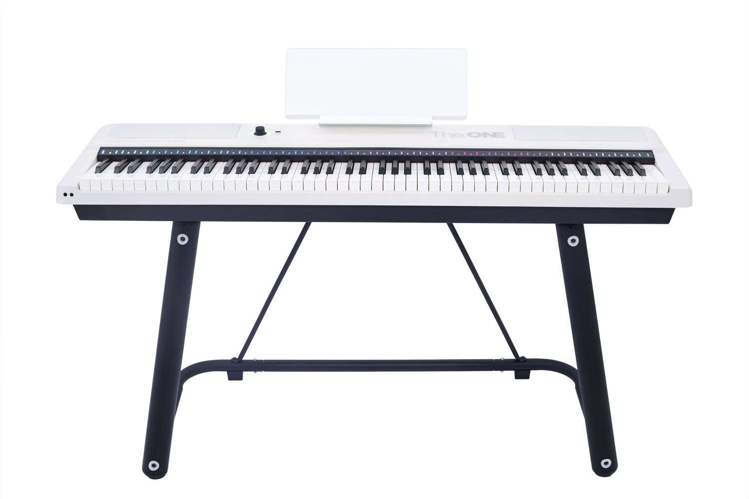 The ONE Smart Keyboard Pro, 88-Key Digital Piano Keyboard, Portable Digital Piano, Weighted Action Keys, White by The ONE Music Group (Image #3)