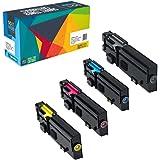 Doitwiser ® Set de 4 Cartuchos de Tóner de Alto Rendimiento Compatibles con Dell C2660 C2660dn C2665dn C2665dnf - 593-BBBU RD80W 593-BBBT 488NH 593-BBBS VXCWK 593-BBBR YR3W3 - Capacidad: Negro 6000 páginas - Color 4000 páginas (4 Pack) Negro Cyan Magenta Amarillo