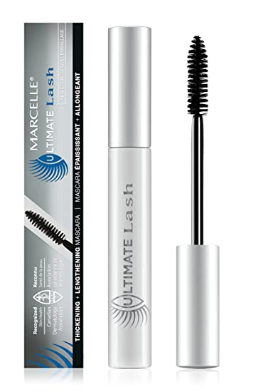 Marcelle Ultimate Lash Mascara, Dark Brown, Hypoallergenic and Fragrance-Free, 0.28 fl