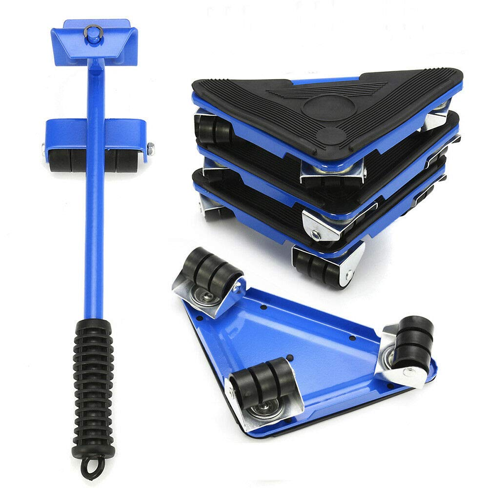 TGDMshop Furniture Lifter/ABS, Steel Accessories Blue Color Max Load 300kg(660Lbs) 360° Rotation Set of 1
