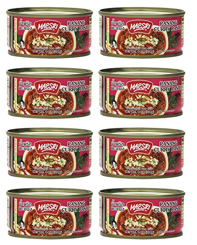 Maesri Thai Panang Curry Paste - 4 Oz (Pack of 8)
