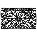 "Home & More 900223048 Gatsby Doormat, 2'6"" x 4', Black"