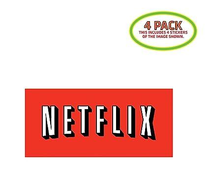Amazon com: HTM Netflix Sticker Vinyl Decal 4 Pack: Automotive