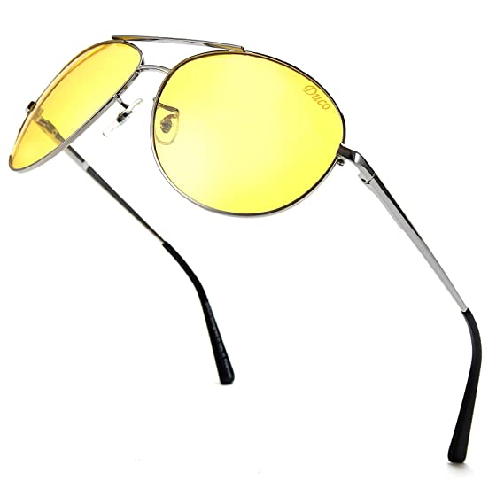 dca20db9b8e Duco Night-vision Glasses Anti-glare Driving Eyewear HD Sunglasses (DC-3025Y-US