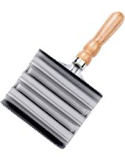 LINCOLN Unisex's brush Large (8 Rows), Silver, one Size