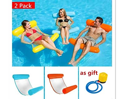 Summer Swimming Water Floating Bed Water Hammock Single People Inflatable Backrest Recliner Floating Sleeping Bed Chair Cushion Activity & Gear