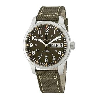Amazon Com Hamilton Men S Khaki Field Automatic Watch With