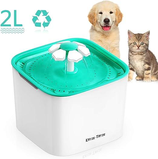 Katze-Tatze Automática Fuente de Agua para Mascotas Gatos Perros ...