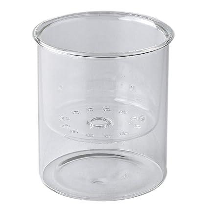 225 & Time Concept Laboratory Clear Glass Vase Inside Planter - Wide - Long-Stemmed Flower Pot Home Planter Decor