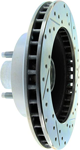 StopTech 227.65001L Select Sport Drilled and Slotted Brake Rotor; Front Left