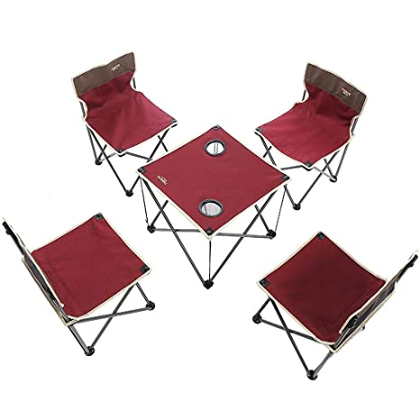 ZH Bases de portátiles Mesa y sillas Plegables al Aire Libre Traje ...
