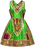 Shenbolen Woman African Print Dress Dashiki Traditional Dress Party Dresses (Small, E)