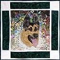 Whims Rachel`s Dog Kennel Block #2 Only - ジャーマンシェパード水彩キルトキット - キルト用品