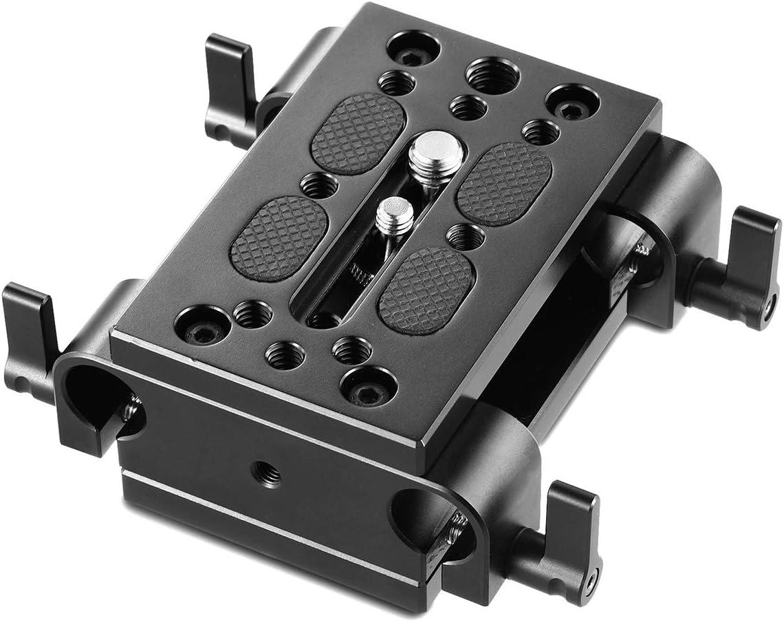 SmallRig Baseplate con 15mm Railblocks per Fotocamera Videocamera e 15mm Rails