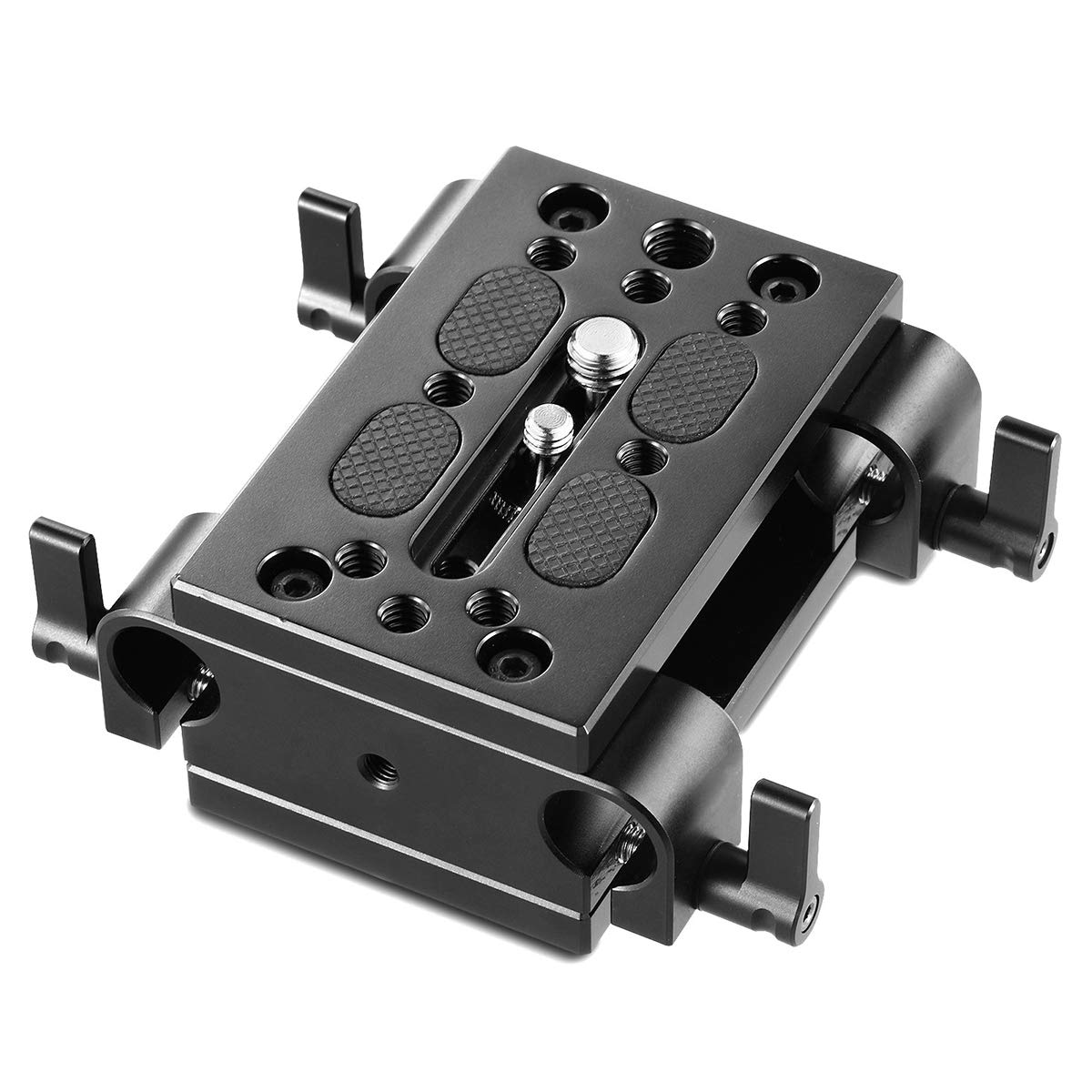 SMALLRIG Camera Tripod Mounting Baseplate w/15mm Rod Clamp Rail Block for Tripod/Shoulder Support System - 1798