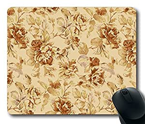 """Vintage floral pattern Unique Custom DIY Rectangle Mouse Pad Oblong Gaming Mousepad in 220mm*180mm*3mm (9""""*7"""") -1102032"""