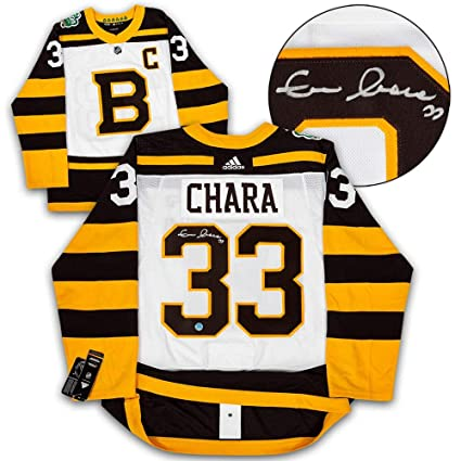 best website d7c20 8c3dd Signed Zdeno Chara Jersey - 2019 Winter Classic Adidas ...