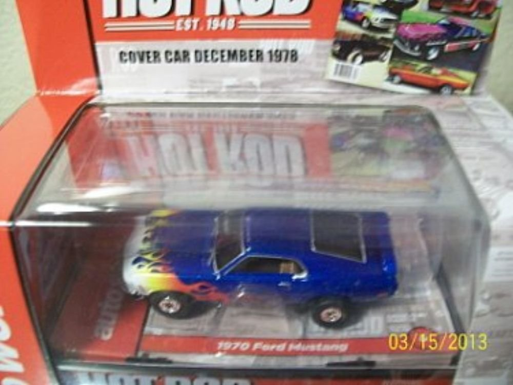 Auto World 254 1970 Ford Mustang Blue Thunder Jet Ultra G HO Slot Car Ertl Auto World