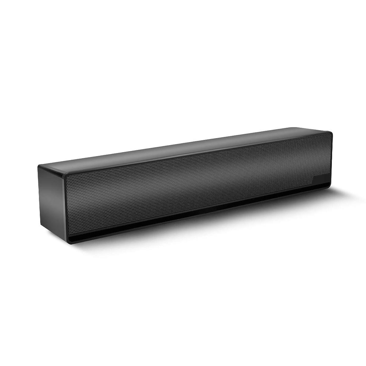 ビリーヤギ障害くしゃみPCスピーカー CAMAC USBスピーカー コンパクト ダブルドライバユニット 高音質 パソコン テレビ ゲーム機などに対応 2台1組 (ブラック)