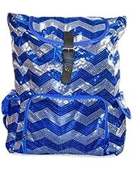 N Gil Chevron Sequin Backpack (Royal Blue)