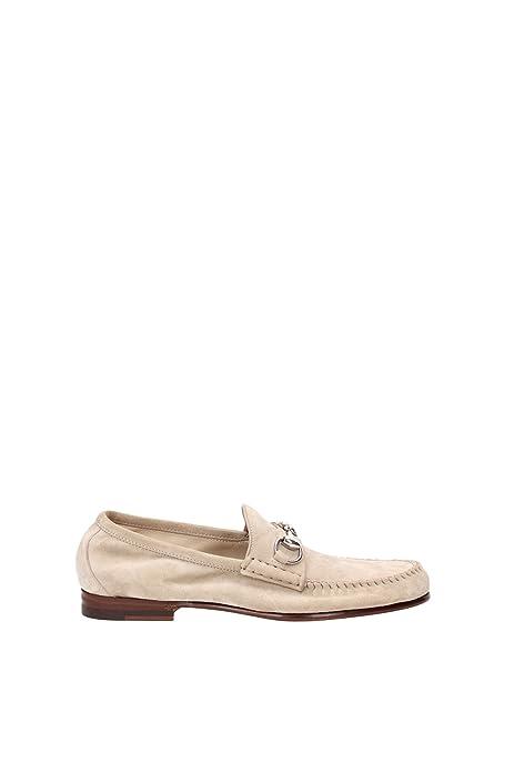 Gucci - Mocasines de Piel para hombre Beige beige, color Beige, talla 41.5 EU: Amazon.es: Zapatos y complementos