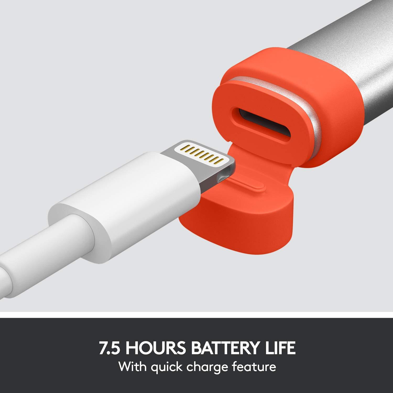 Utiliza la Tecnolog/ía Apple Pencil y la Tecnolog/ía de Rechazo de Palma Bluetooth Logitech Crayon Compatible con Apple iPad 6./ª Gen Digital Pencil iPad Air 3./ª Gen iPad Mini 5./ª Gen