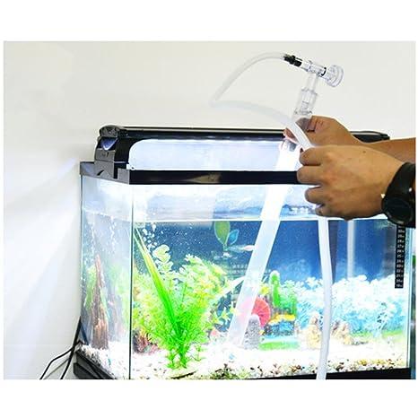 Ocamo Tubo plástico para Cambiar el Agua de Tanque de Pescados, Grava Limpiador de Arena