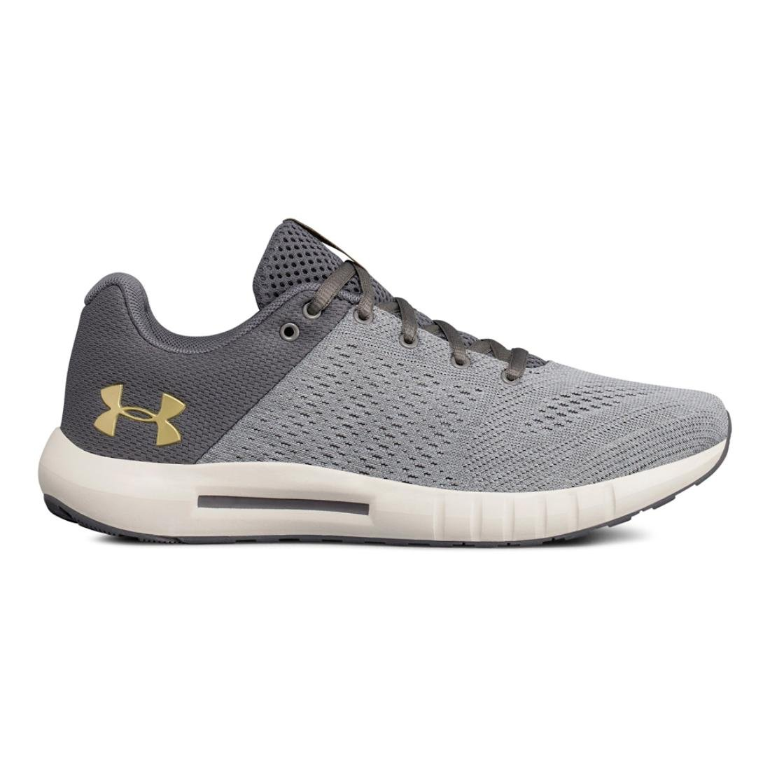 Under Armour Women's Micro G Pursuit Sneaker B075MQSVF8 6 B(M) US|Graphite/Overcast Gray/Metallic Gold