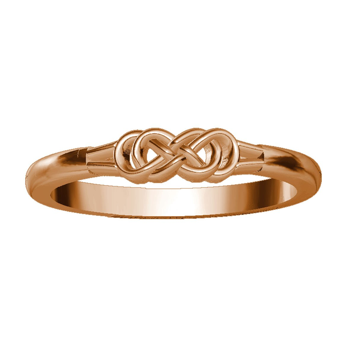 Infinity Rings in 14K Rose Gold size 11.5