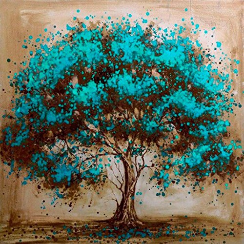 5D Diamond Painting Kit Full Drill,Lavany 5D DIY Diamond Paint By Number Kits Embroidery Rhinestone Pasted Wall Decor,Stamped Cross Stitch Kits,Butterfly Tree (A)