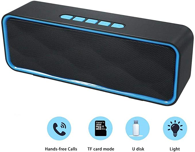 Husan Kabelloser Bluetooth-Lautsprecher mit AUX//USB//TF-Kartenschlitz,...