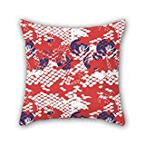PILLO Crab pillow cases 16 x 16 inches / 40 by 40 cm best choice for deck chair,car seat,divan,study room,teens,him with twice sides