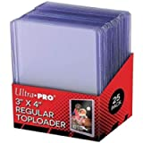 Ultra Pro UP81222 25 - 3 X 4 Top Loader Card Holder for Baseball, Football, Basketball, Hockey, Golf, Single Sports…